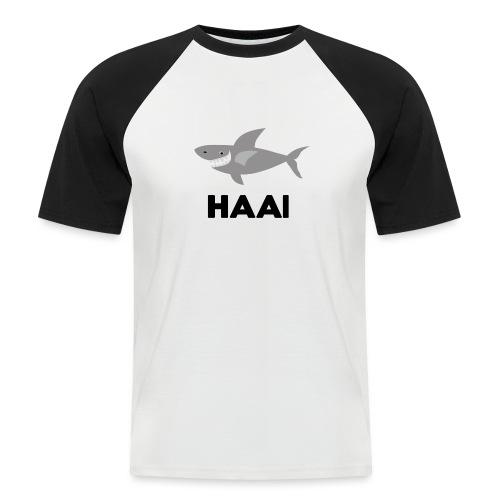 haai hallo hoi - Mannen baseballshirt korte mouw