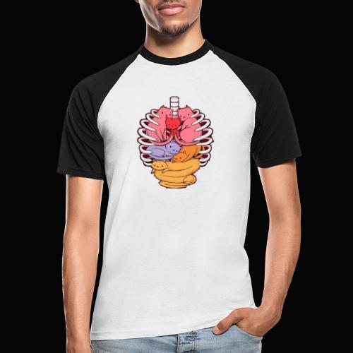 El cuerpo humano por dentro - Camiseta béisbol manga corta hombre