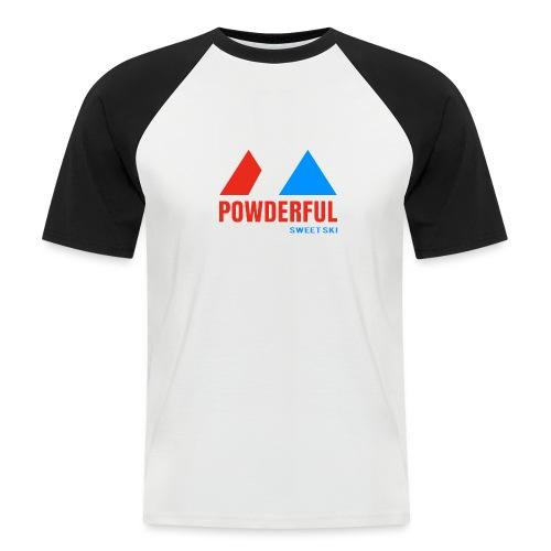 Powderful Sweet Ski - Männer Baseball-T-Shirt
