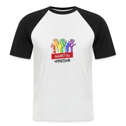 Against All Oppression - Mannen baseballshirt korte mouw