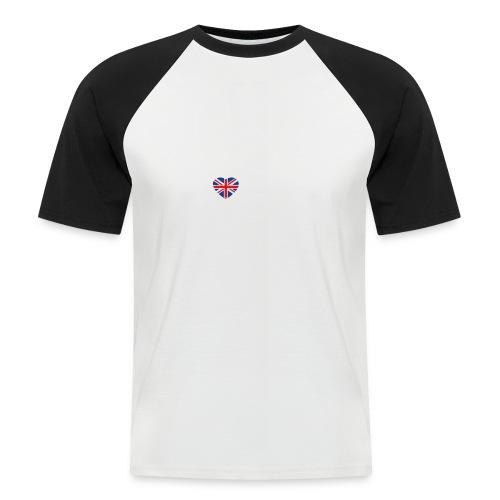 Cooles London Souvenir - Skyline mit Herz London - Männer Baseball-T-Shirt