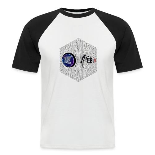 disen o dos canales cubo binario logos delante - Men's Baseball T-Shirt