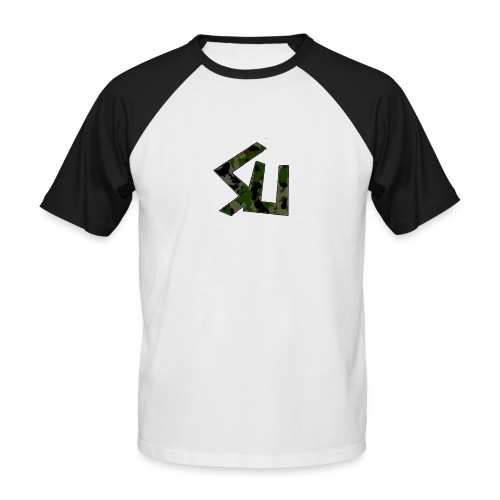 SainT Cammo Logo - Men's Baseball T-Shirt