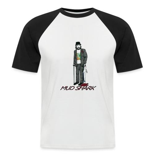 Mud Shark 3 jpg - Kortærmet herre-baseballshirt