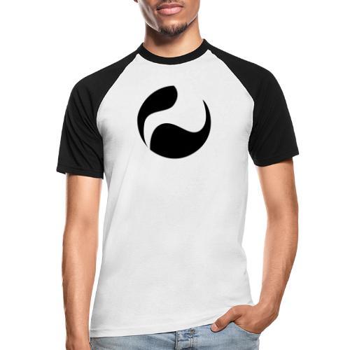 DEEPINSIDE logo ball black - Men's Baseball T-Shirt