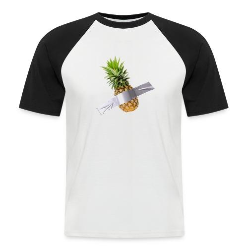 Pineapple Art - Maglia da baseball a manica corta da uomo
