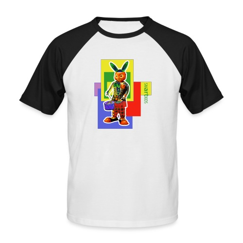 smARTkids - Slammin' Rabbit - Men's Baseball T-Shirt
