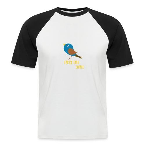 The early bird needs a lot of COFFEE v1 - Männer Baseball-T-Shirt