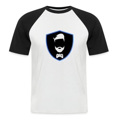 Kalzifertv-logo - Kortærmet herre-baseballshirt