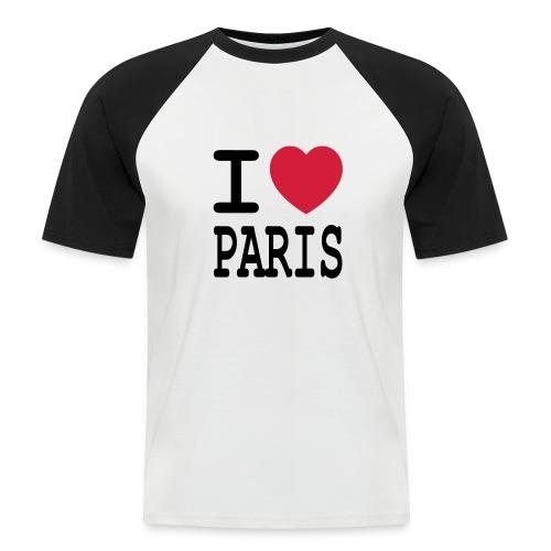 I love Paris - Mannen baseballshirt korte mouw