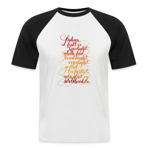 Åndens frukt - Kortermet baseball skjorte for menn