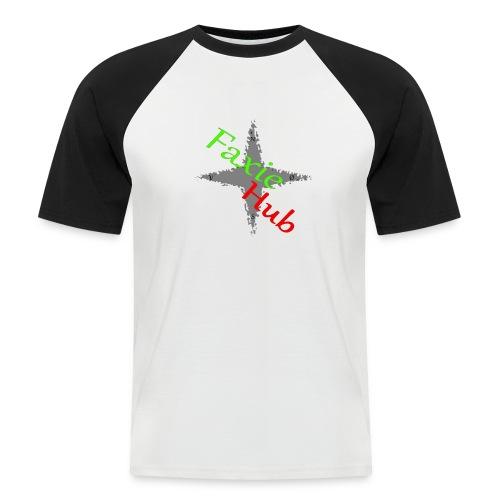 FaxieHub - Kortærmet herre-baseballshirt