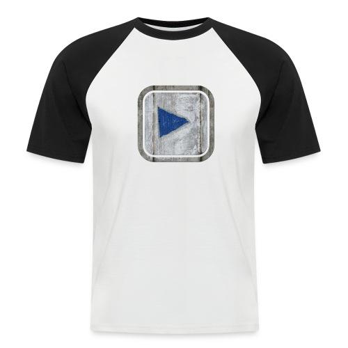 hier entlang ! - Männer Baseball-T-Shirt