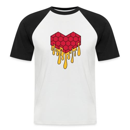Honey heart cuore miele radeo - Maglia da baseball a manica corta da uomo