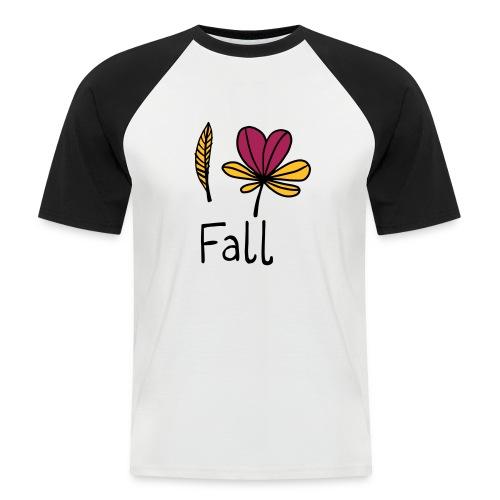 Fall in love - Männer Baseball-T-Shirt