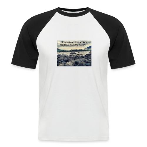Oceanheart - Kortermet baseball skjorte for menn