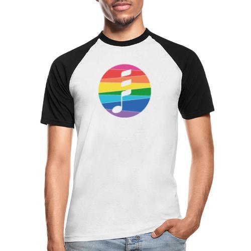 Rainbow Note - Männer Baseball-T-Shirt