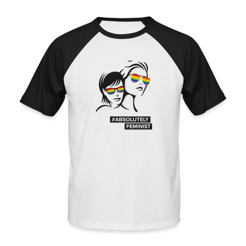 L-BEACH Rainbow Glasses - Männer Baseball-T-Shirt