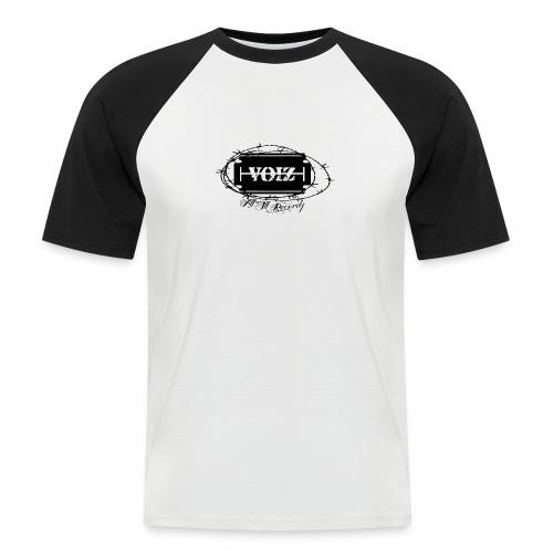 VOIZ weisses shirt - Männer Baseball-T-Shirt