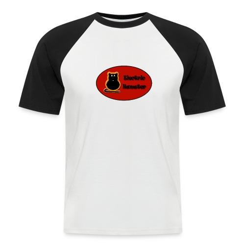 electrichamster - Camiseta béisbol manga corta hombre