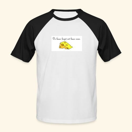 Kaas loopt uit haar oren - Temptation - Mannen baseballshirt korte mouw