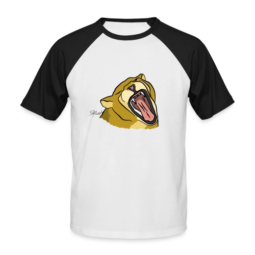Gähnender / brüllender Löwe - Männer Baseball-T-Shirt