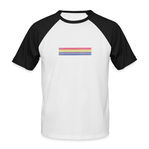 Colored lines - Men's Baseball T-Shirt