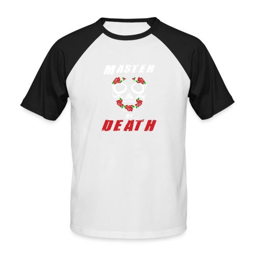 Master of death - white - Koszulka bejsbolowa męska