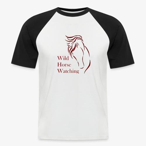 Logo Aveto Wild Horses - Maglia da baseball a manica corta da uomo