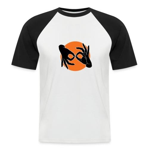 Deaf Interpreter black / orange - Männer Baseball-T-Shirt