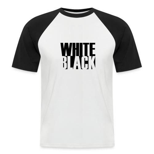 White, Black T-shirt - Mannen baseballshirt korte mouw