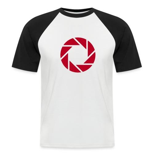 I shoot RAW - weiß - Männer Baseball-T-Shirt
