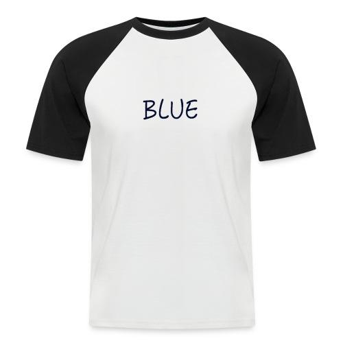 BLUE - Mannen baseballshirt korte mouw