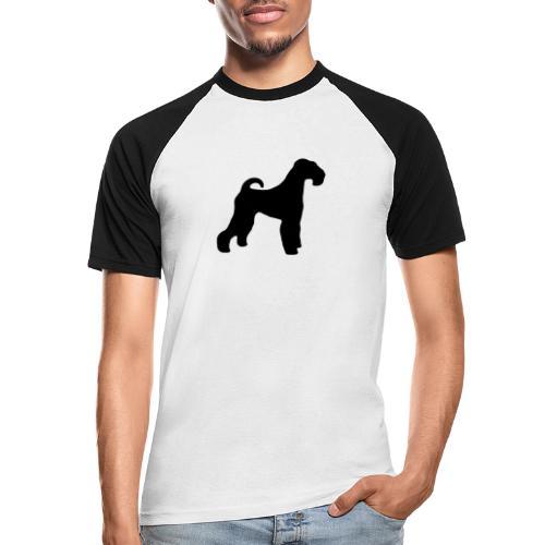 BLACK Airedale Terrier - Men's Baseball T-Shirt