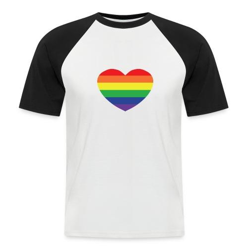 Rainbow heart - Men's Baseball T-Shirt