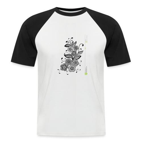 diseño de flores - Camiseta béisbol manga corta hombre