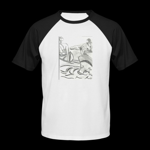 abstrack - Camiseta béisbol manga corta hombre