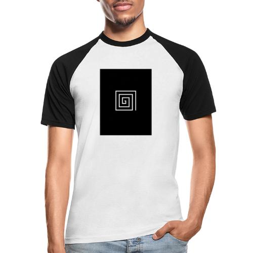 SquareSpiral - Men's Baseball T-Shirt