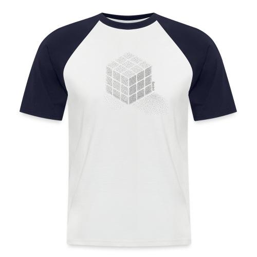 Rubik's Cube Stippling Dotted Cube - Men's Baseball T-Shirt