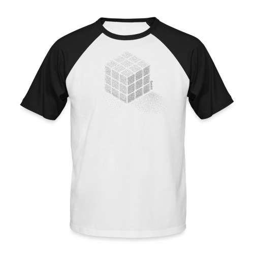 Rubik's Cube Stippling Dotted Cube - Men's Baseball T-Shirt