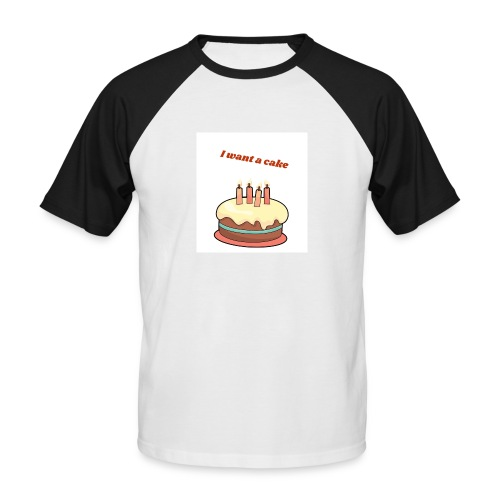 I want a cake - Kortärmad basebolltröja herr
