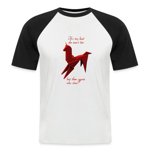UnicornioBR2 - Camiseta béisbol manga corta hombre