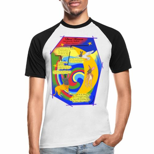 Drei Hasen (Christian Morgenstern) - Men's Baseball T-Shirt