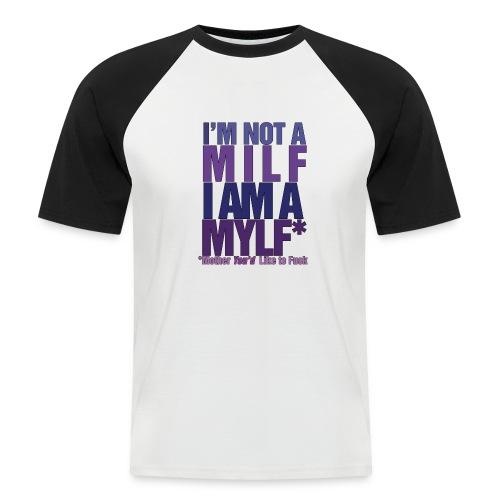 MYLF - Kortermet baseball skjorte for menn
