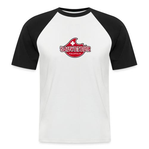vague rouge sauveteur aquatique - T-shirt baseball manches courtes Homme