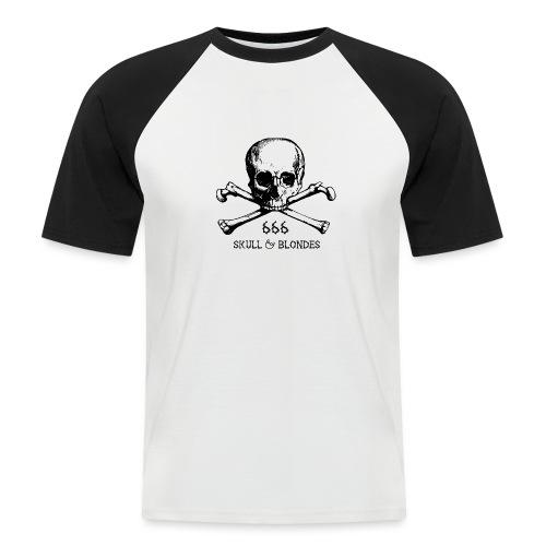 skull & blondes (black) - Männer Baseball-T-Shirt