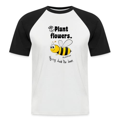 Bees8-1 Bringt die Bienen zurück!   Bookrebels - Men's Baseball T-Shirt