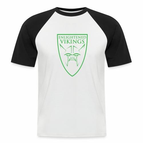 Enlightened Vikings (Org) - Kortermet baseball skjorte for menn