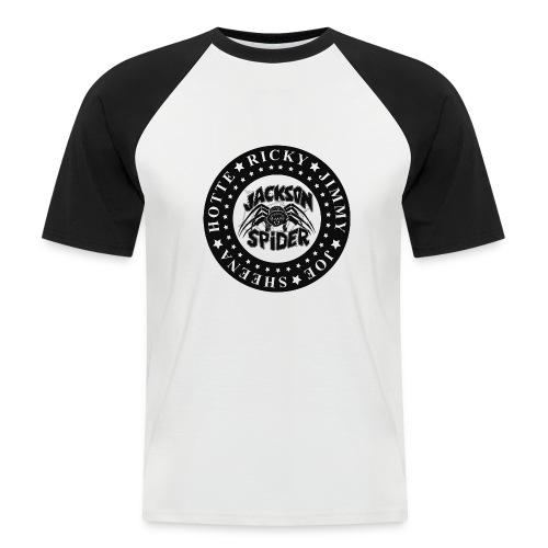 jacksonspider schwarz - Männer Baseball-T-Shirt