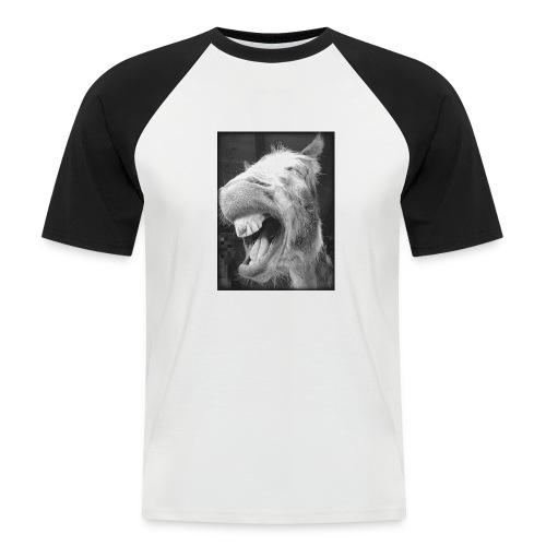 lachender Esel - Männer Baseball-T-Shirt